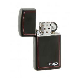 Zippo 1618 ZB Slim Black Matte w/red border