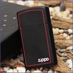 Zippo 1618 ZB Slim Black Matte w/red border (ZIPPO) - www.lovackaoprema.co.rs