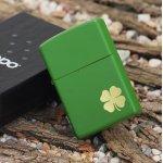 Zippo 21032 Moss Green Matte w/shamrock logo (ZIPPO) - www.lovackaoprema.co.rs