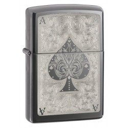 Zippo 28323 Black Ice Filigree Ace of Spades