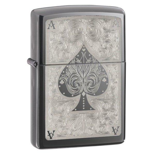 Zippo 28323 Black Ice Filigree Ace of Spades (ZIPPO) - www.lovackaoprema.co.rs