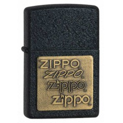 Zippo 362 Black Crackle w/zippo emblem
