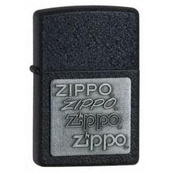 Zippo 363 Black Crackle Pewter emblem