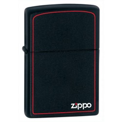 Zippo Black Matte w/red border