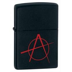Zippo 20842 Black Matte w/anarchy simbol