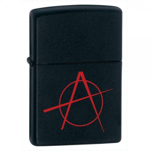 Zippo 20842 Black Matte w/anarchy simbol (ZIPPO) - www.lovackaoprema.co.rs